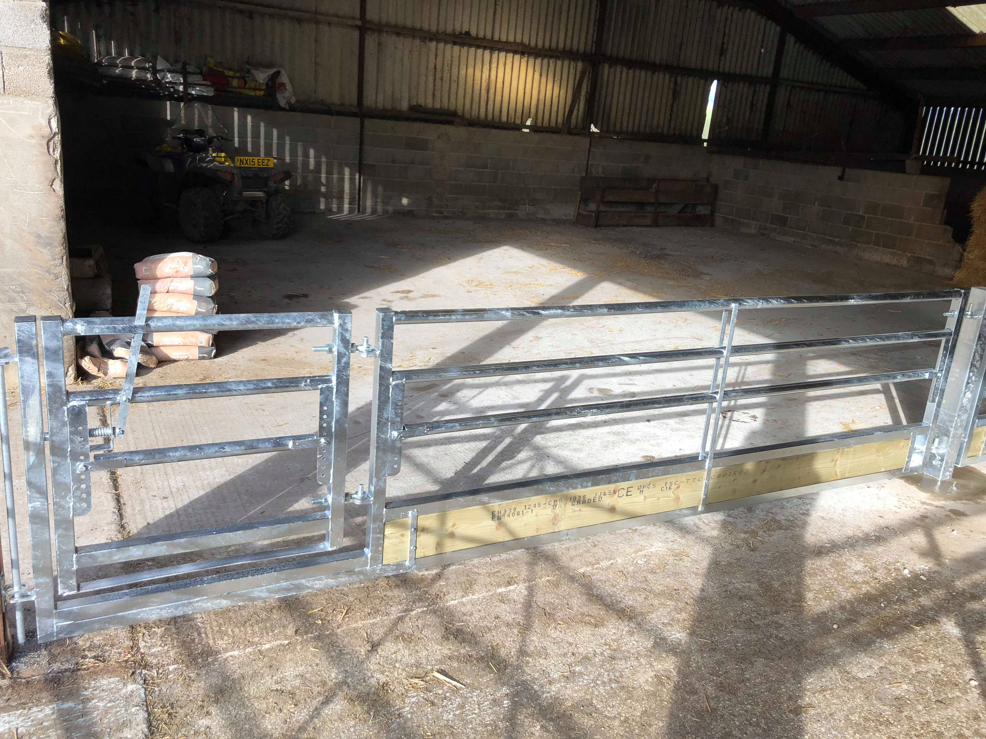 Sheep Feed Barrier With Timber Base As Gate Gst Fabrication