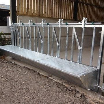 4/' Foot Cattle Sheep Horse Gate Trough Hook Over Hang On Galv Feed Very Heavy